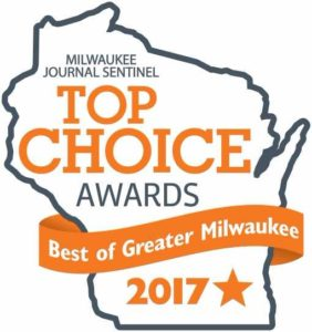 Logo for Top Choice Award for Vein Clinic - Best of Greater Milwaukee in 2017